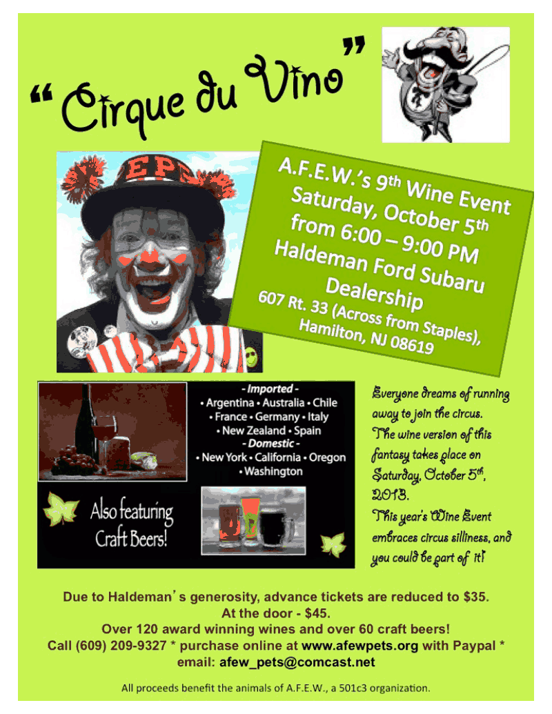 A F E W S 9th Wine Event Mercer Middlesex County S